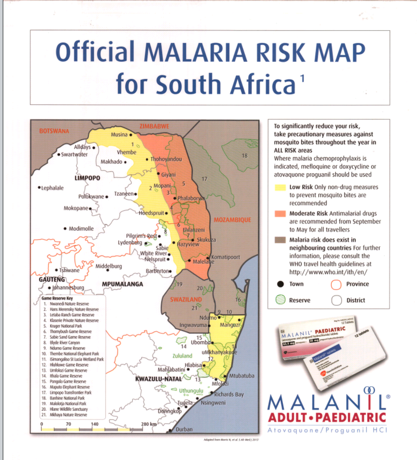 Go Health Centre | Travel Alert   Low Malaria risk in South Africa